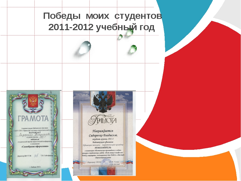 Победы моих студентов 2011-2012 учебный год L/O/G/O