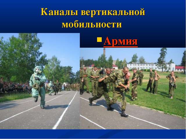 Каналы вертикальной мобильности Армия