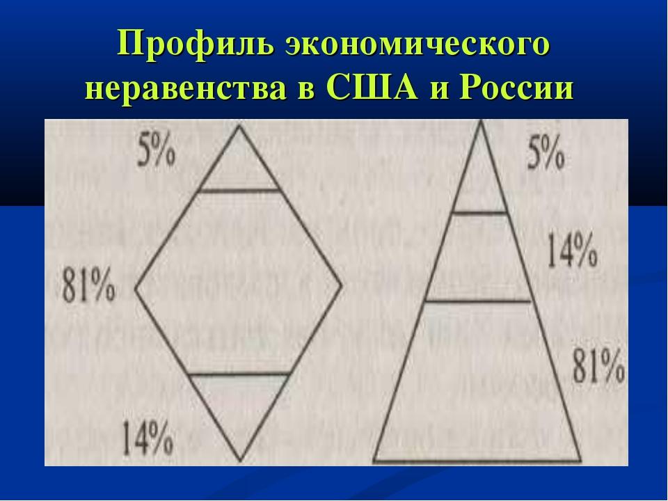 Профиль экономического неравенства в США и России