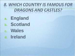 England Scotland Wales Ireland