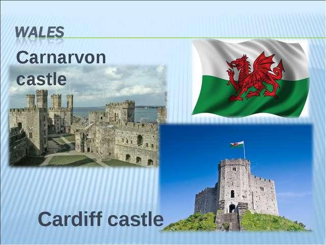 Carnarvon castle Cardiff castle