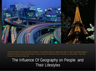 The Influence Of Geography on People  and Their Lifestyles Country's situati