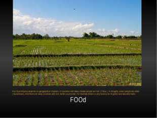 FOOd Also food industry depends on geographical situation. In countries with