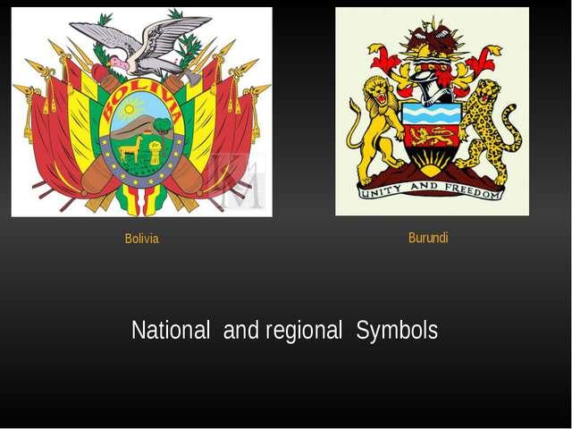 National  and regional  Symbols Bolivia