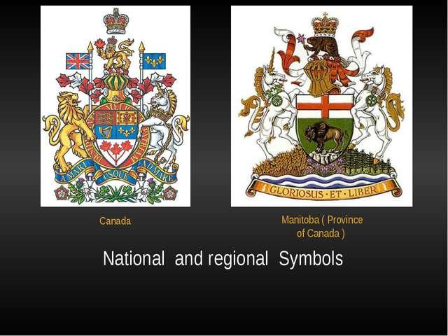 National  and regional  Symbols Canada
