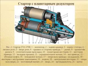Рис. 2. Стартер 5722.3708: 1 – коллектор; 2 – задняя крышка; 3 – корпус стато