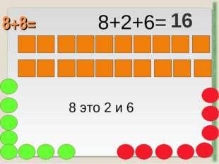 8+8= http://aida.ucoz.ru 8 это 2 и 6 8+2+6= 16
