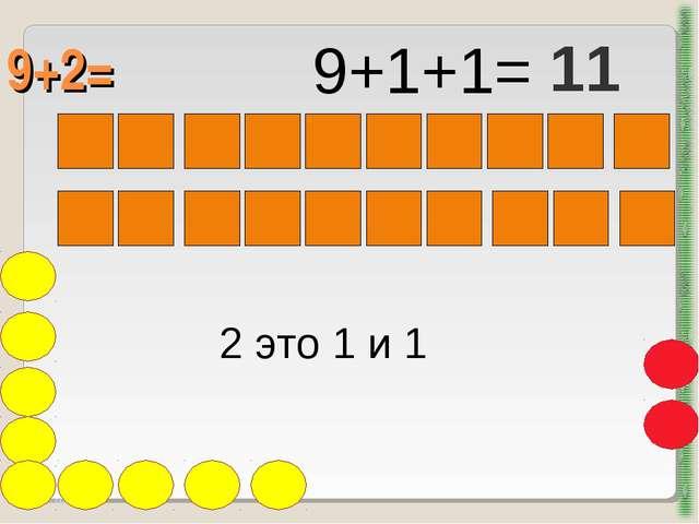 9+2= http://aida.ucoz.ru 2 это 1 и 1 9+1+1= 11