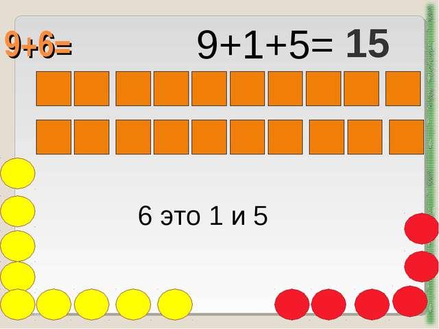 9+6= http://aida.ucoz.ru 6 это 1 и 5 9+1+5= 15
