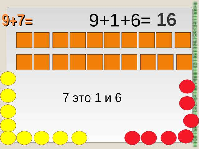 9+7= http://aida.ucoz.ru 7 это 1 и 6 9+1+6= 16