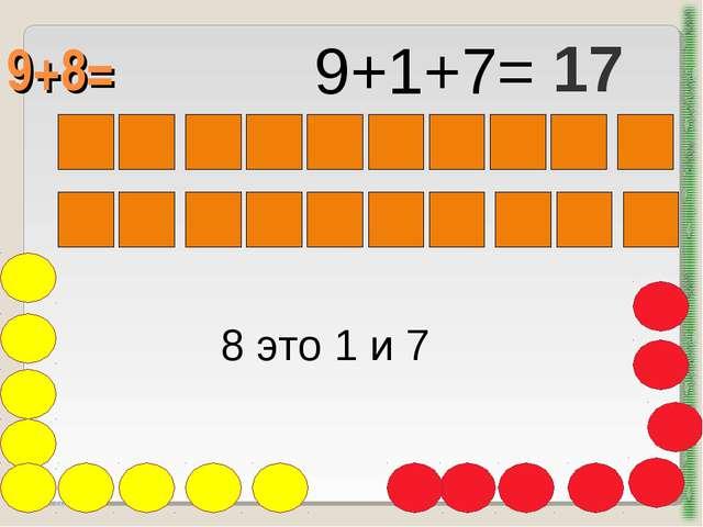 9+8= http://aida.ucoz.ru 8 это 1 и 7 9+1+7= 17