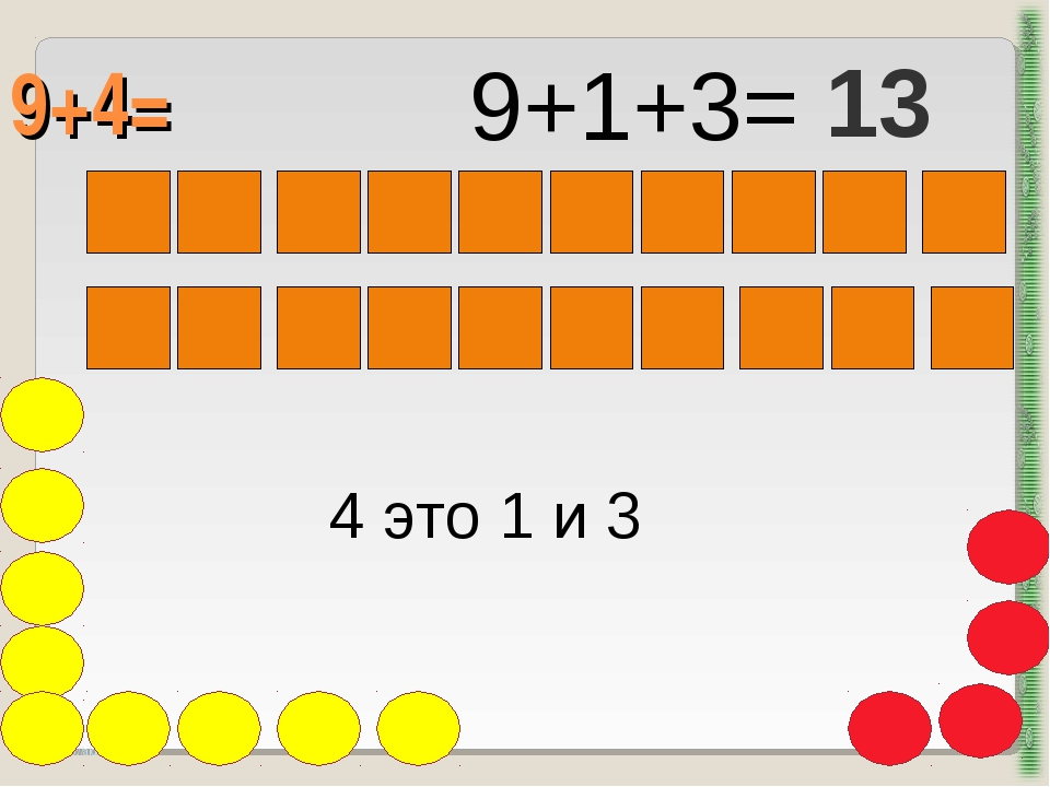 9+4= http://aida.ucoz.ru 4 это 1 и 3 9+1+3= 13