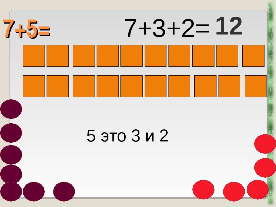 7+5= http://aida.ucoz.ru 5 это 3 и 2 7+3+2= 12