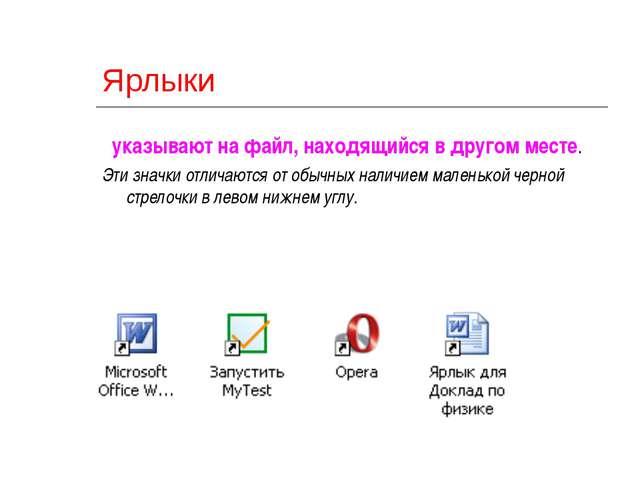 2010 ©Bolgova N A * Ярлыки указывают на файл, находящийся в другом месте. Эти...