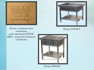 Плита электрическая секционная модулированная ПЭСМ-4ШБ с жарочным шкафом и б