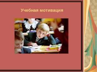 Учебная мотивация