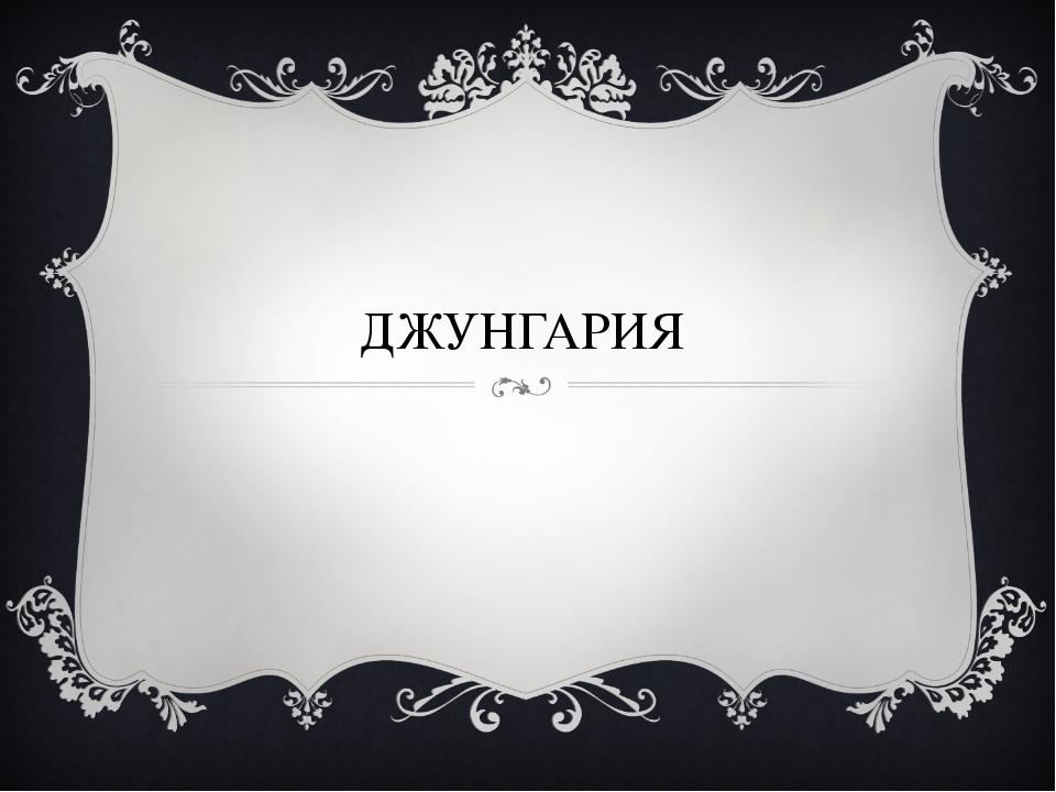 ДЖУНГАРИЯ