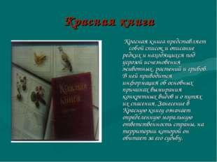 Красная книга Красная книга представляет собой список и описание редких и нах
