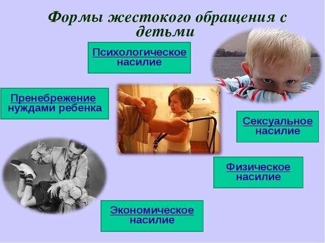 Формы жестокого обращения с детьми Пренебрежение нуждами ребенка Психологичес...