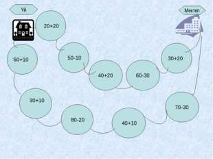 Үй Мектеп 60-30 30+20 50+10 30+10 70-30 40+10 80-20 50-10 20+20 40+20