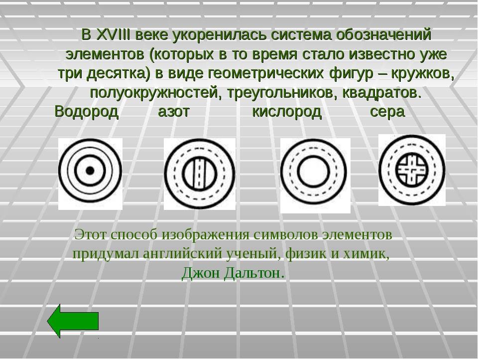 В XVIII веке укоренилась система обозначений элементов (которых в то время с...