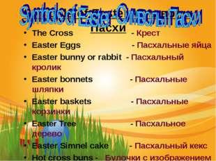 Symbols of Easter -Символы Пасхи The Cross - Крест Easter Eggs - Пасхальные я