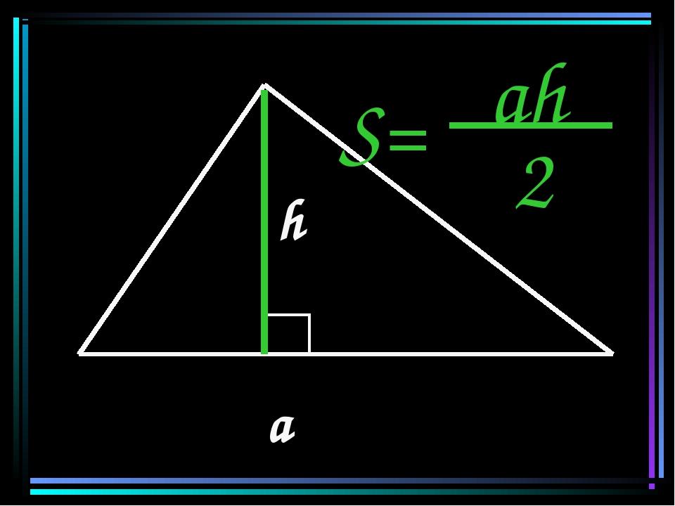 a h S= ah 2