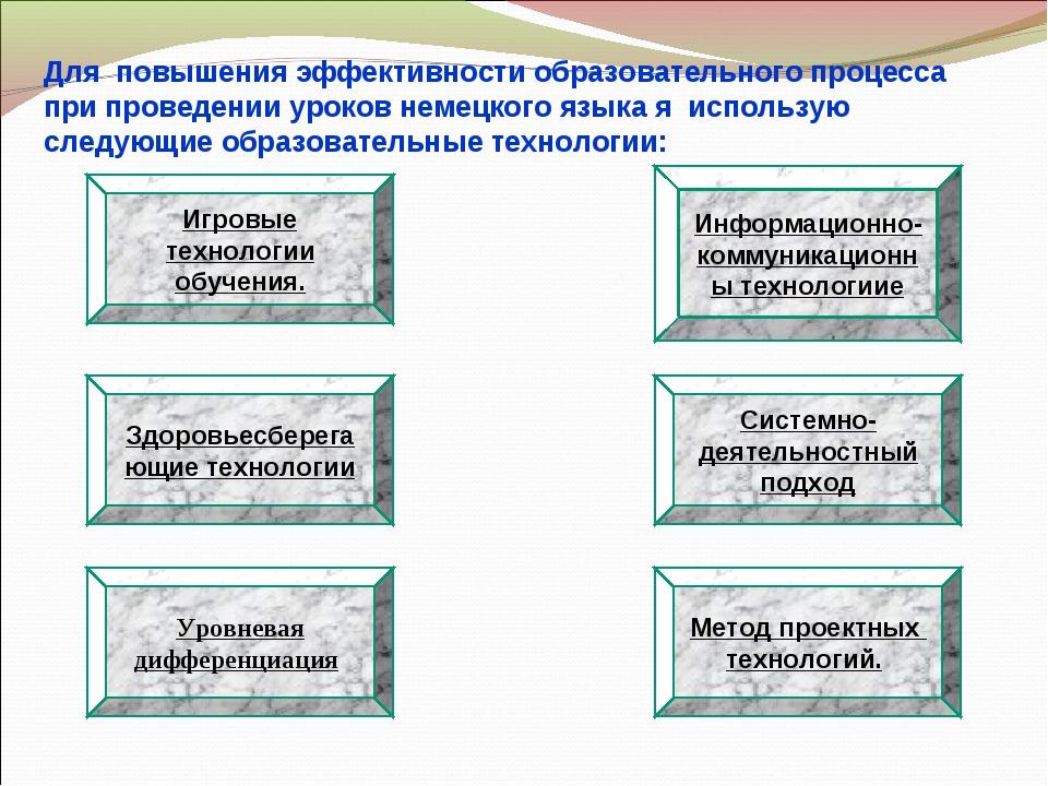 Для повышения эффективности образовательного процесса при проведении уроков н...