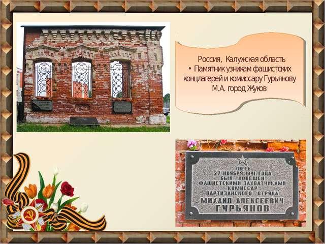 Россия, Калужская область • Памятник узникам фашистских концлагерей и комисс...