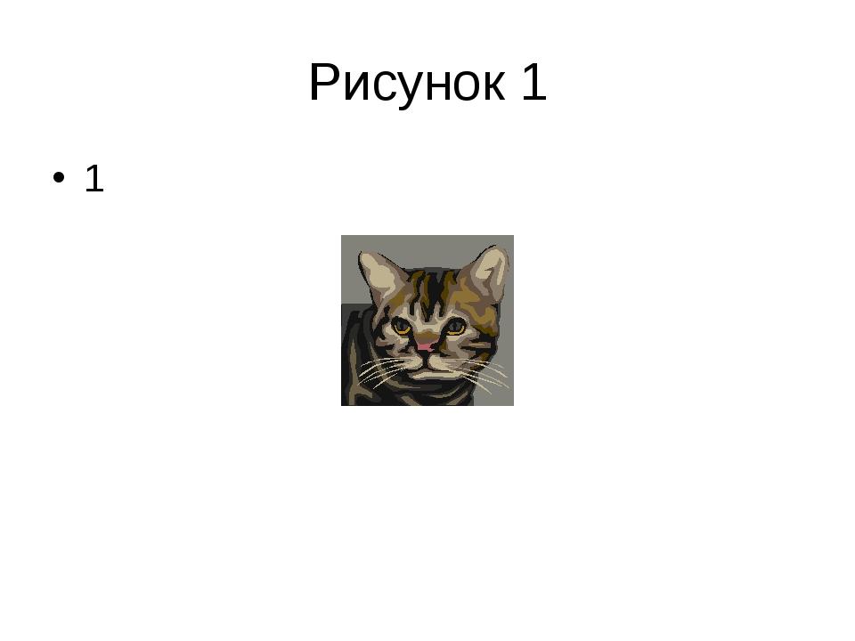 Рисунок 1 1