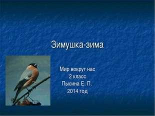 Зимушка-зима Мир вокруг нас 2 класс Пысина Е. П. 2014 год