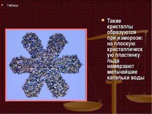 Такие кристаллы образуются при изморози: на плоскую кристаллическую пластинку