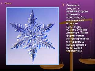Снежинка дендрит с ветвями второго и третьего порядков. Это относительно боль
