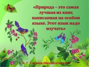 К. Г. Гарина-Михайловского
