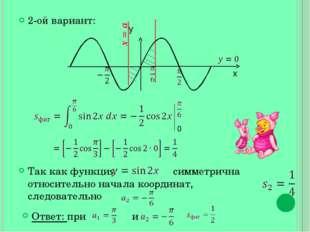 2-ой вариант: Так как функция симметрична относительно начала координат, след