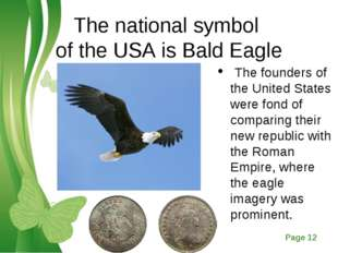 The national symbol of the USA is Bald Eagle The founders of the United State