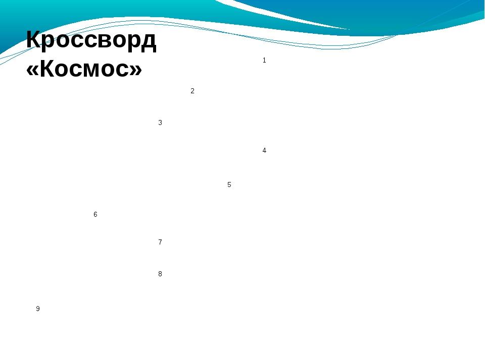 Кроссворд «Космос» 1 2 3 4...