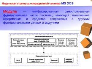 Модуль — унифицированная самостоятельная функциональная часть системы, имеющ