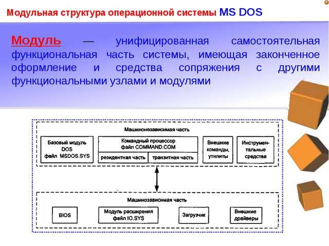 Модуль — унифицированная самостоятельная функциональная часть системы, имеющ...