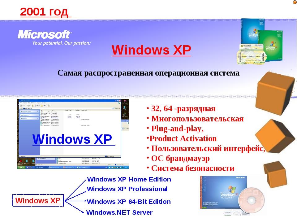 2001 год 32, 64 -разрядная Многопользовательская Plug-and-play, Product Activ...