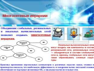 Многосетевые иерархии Объединение глобальных, региональных и локальных вычисл