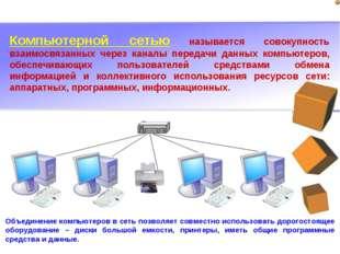 Компьютерной сетью называется совокупность взаимосвязанных через каналы перед