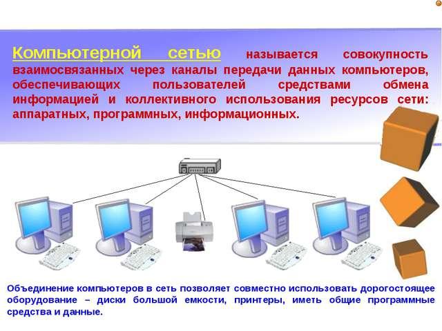 Компьютерной сетью называется совокупность взаимосвязанных через каналы перед...