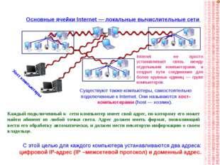 Основные ячейки Internet — локальные вычислительные сети Internet не просто у