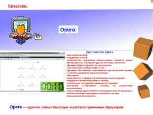 Браузеры Opera — один из самых быстрых и распространенных браузеров Opera Дос