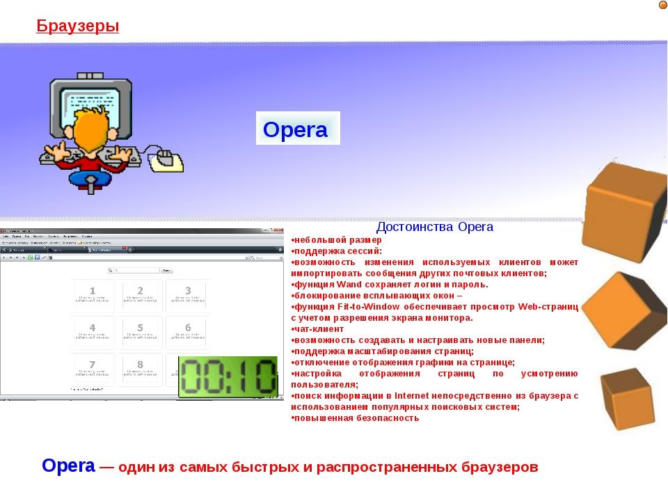 Браузеры Opera — один из самых быстрых и распространенных браузеров Opera Дос...