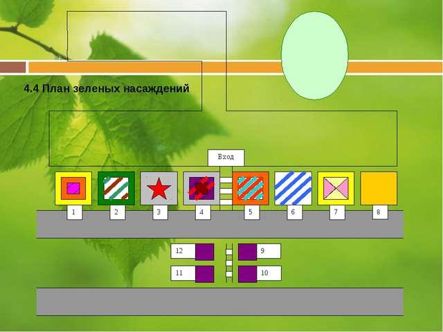 4.4 План зеленых насаждений