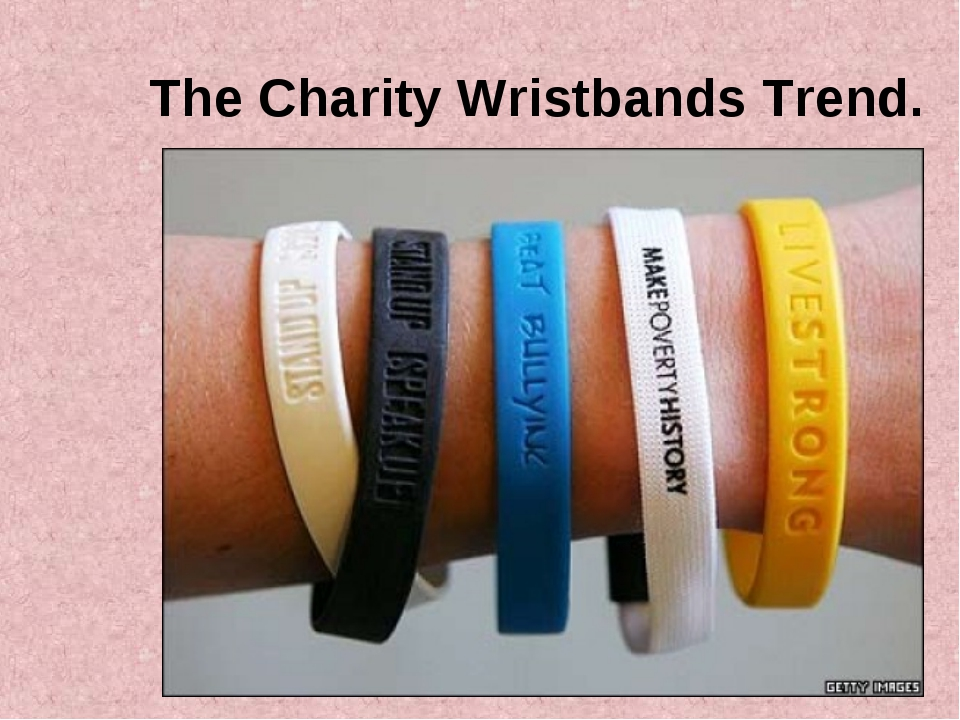 The Charity Wristbands Trend.
