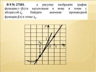 B9№27503. на рисунке изображён график функцииy=f(x)и касательная к нему