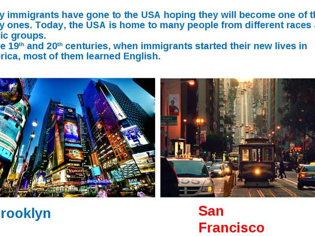 Many immigrants have gone to the USA hoping they will become one of the lucky...